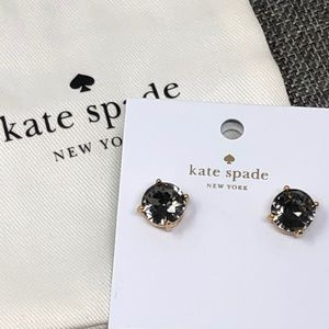 Kate Spade Gun Drop Black Diamond Earrings